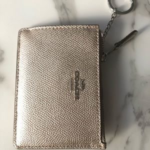 Brand New! Gold Coach Leather Key/Coin Pouch